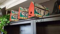License Plate Bird Houses Winnipeg Manitoba Preview