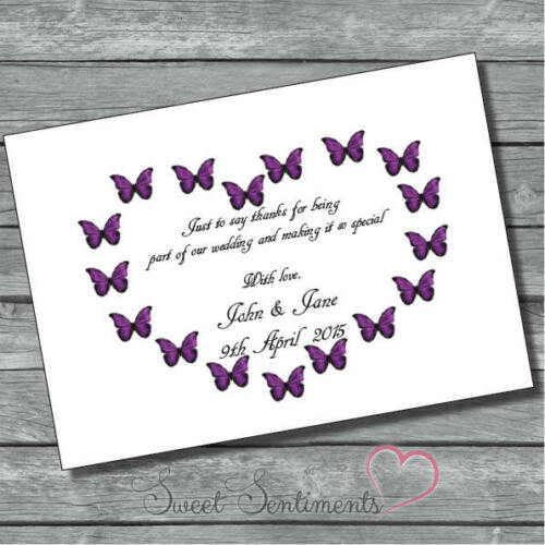 Personalised Cute Engagement Wedding Gift Thank You Notes 12   s11