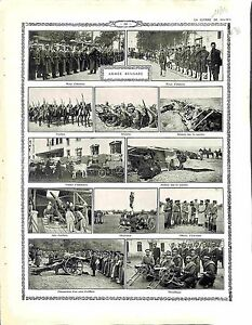 Armee-de-Bulgarie-Bulgaria-Army-Parade-Infantry-Cavalry-Ambulances-Guns-1914-WWI