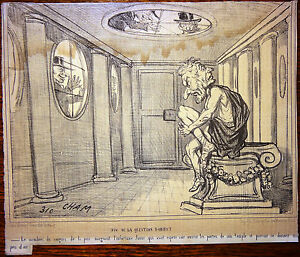 CHAM-Lithographie-Le-Charivari-Caricature-XIXe-Fin-de-la-Question-d-039-Orient
