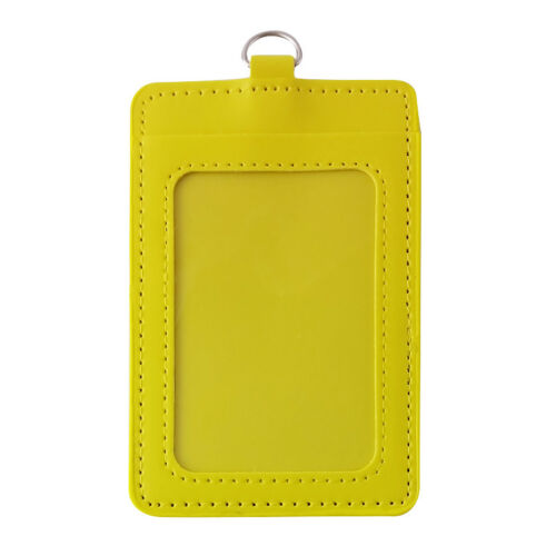 Colorful PU Leather Bus ID Badge Card Holder Exhibition Reel Credit Name Case