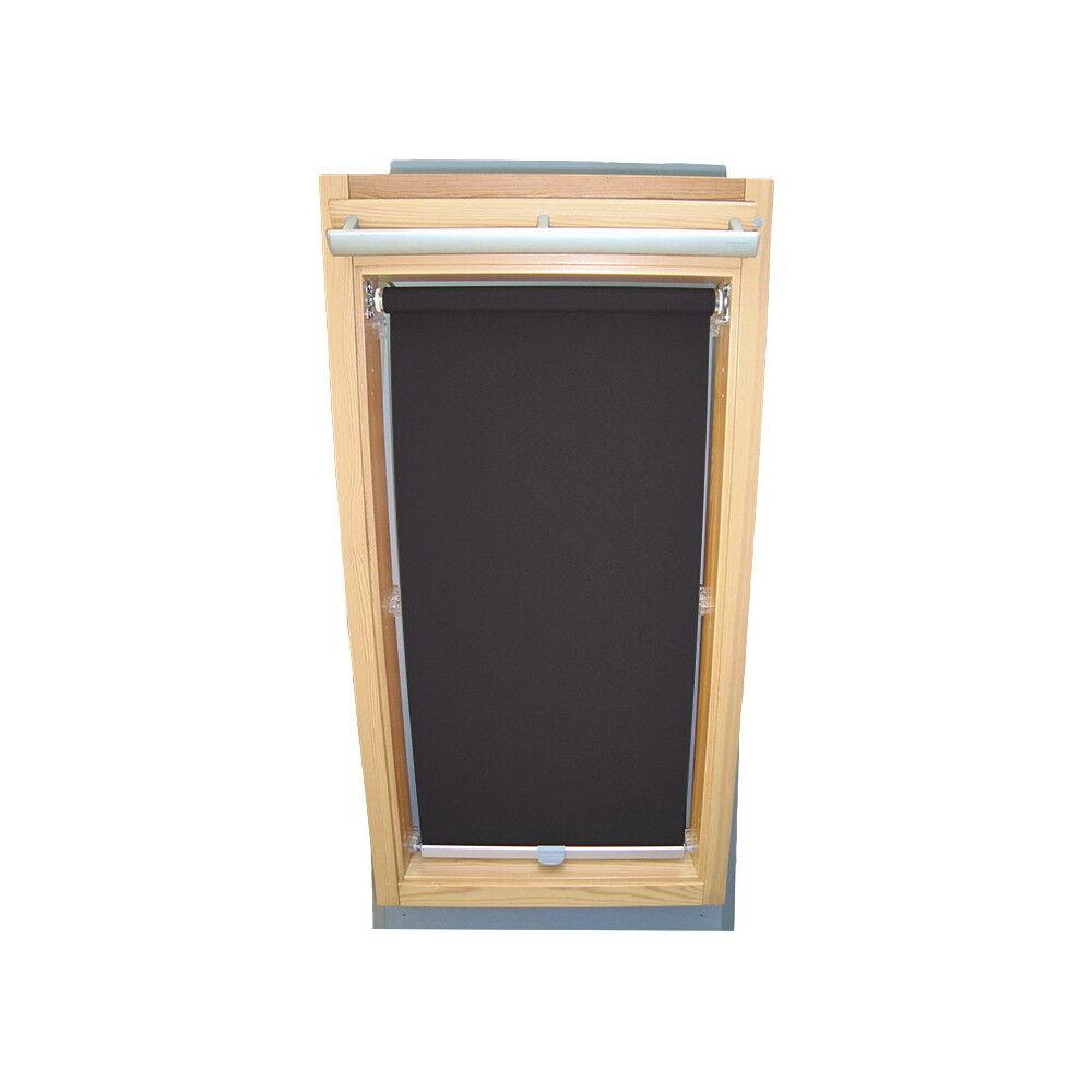 Rollo Sichtschutz für Braas Dachfenster BK BL BKT BFT BE - dunkelgrau
