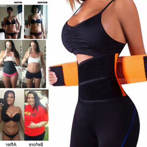 e5b7590db0e Fajas Waist Trainer Sauna Sweat Thermo Yoga Sport Shaper Belt Slim ...