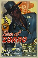 Son of Zorro 13 chapter Republic serial 2 DVDs Free shipping in case w/artwork