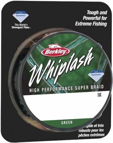 CLEARANCE Berkley WHIPLASH Braid 330 yards   300 m GREEN 65lb 26.4 kg 0.20 mm