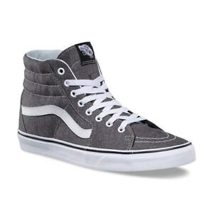 9ba6b7395d4 Vans SK8 Hi Micro Herringbone Black True White Men s Skate Shoes