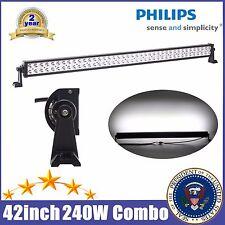 "PHILIPS 42"" INCH 240W LED LIGHT BAR SPOT FLOOD OFFROAD DRIVING LAMP ATV TRUCK 40"