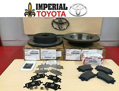 2006-2018 TOYOTA RAV4 NEW REAR GENUINE OEM BRAKE KIT ROTORS PAD KIT AND SHIM KIT