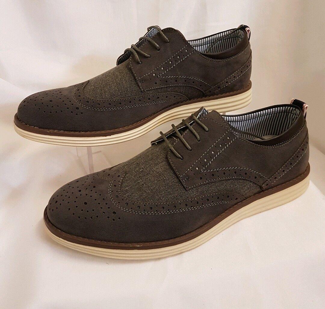 Hombre Joven TALLA Zapatos Clásico Hecho ITALY TALLA Joven 43 Gris slippers eldel 469858