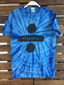 90820973829 Ed Sheeran Divide Logo Tie Dye English Singer Blue Album Shirt ...
