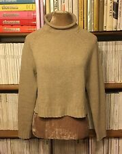 RALPH LAUREN Purple Label cashmere beige sweater jumper top S UK 8-10 / US 4-6