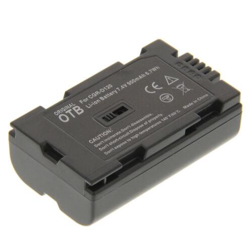 Batería cgr-d120 F Panasonic nv-gs15 nv-gs15eg nv-gs3