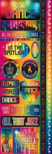 Reminisce DANCE COMBO Cardstock Stickers scrapbooking SPOTLIGHT Stage
