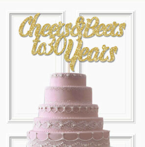 Miraculous Cheers And Beers To Any Number Years Glitter Cake Topper 30Th Personalised Birthday Cards Cominlily Jamesorg