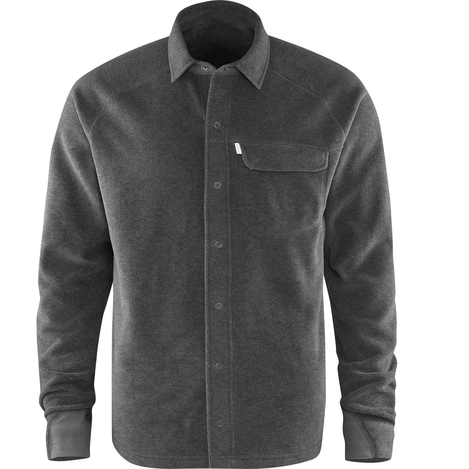 Haglöfs Tajga LS Shirt Men, Fleece Shirt, Men's Long Sleeve Shirt, Magnetite
