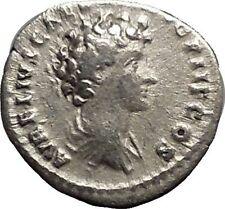ANTONINUS PIUS & MARCUS AURELIUS as CAESAR Ancient Silver Roman Coin Rare i51173