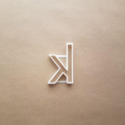 Alfabeto letra K menor forma Cookie Galleta Pastelería Fondant Sharp de masa