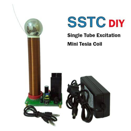 DIY Mini Tesla Coil Plasma Speaker Arc Loudspeaker Music Tesla Coil Wireless Tra