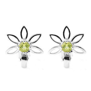 Delicate-15mm-Genuine-Peridot-Flower-Stud-Earrings-and-Solid-Sterling-Silver-Hot