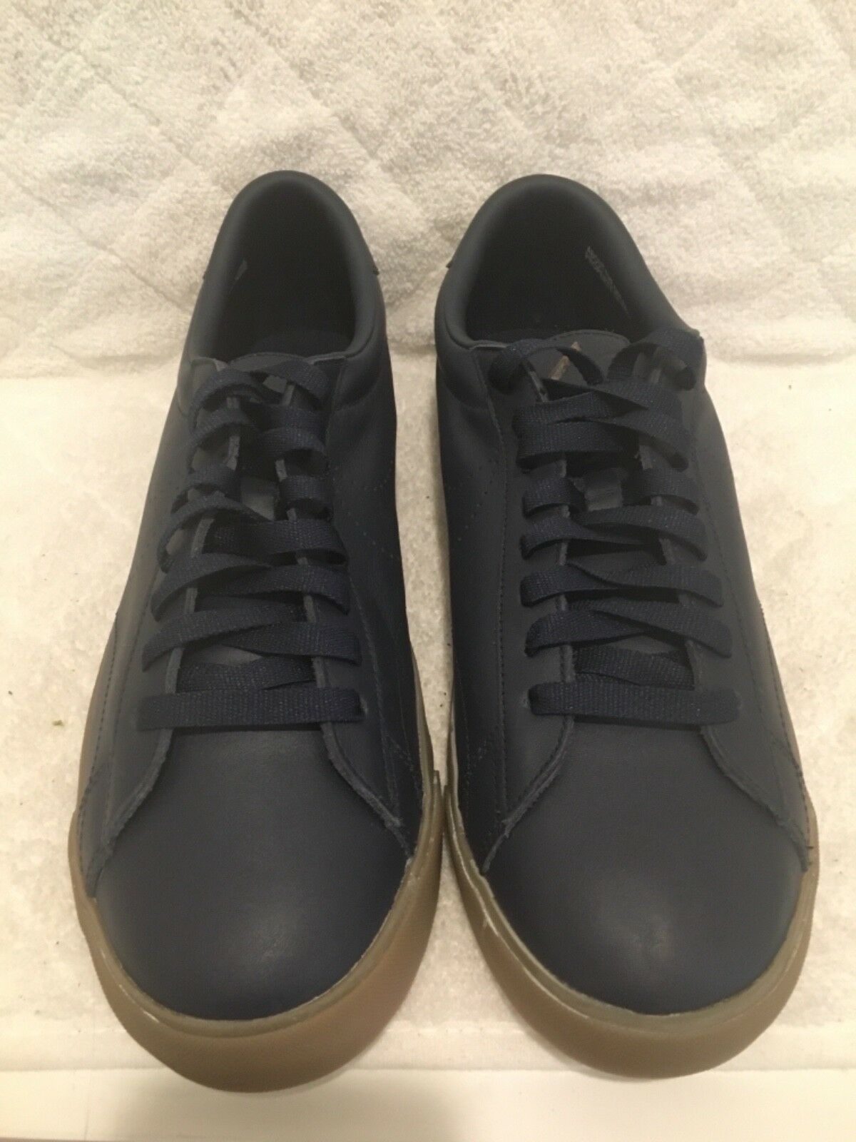 NIKE NAVY BLUE ERIC KOSTON ALL LEATHER  SHOESWITH LOGO NWT SNEAKERS US SIZE 11.5