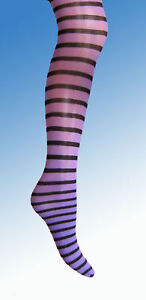Purple-Black-Stripe-Girls-Tights-3-4-5-6-7-8-9-10-11-12-stripy-witch-halloween
