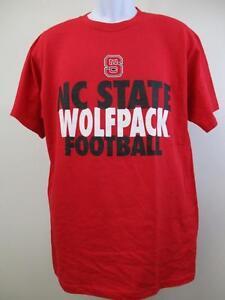 Nuevo-Carolina-Del-Norte-Nc-Estado-Wolfpack-Adulto-Hombres-Talla-L-Grande-Rojo