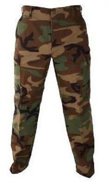 US Army PROPPER BDU woodland camouflage Hose pants Tarnhose MS Medium Short