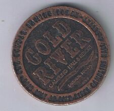 Gold River Gambling Hall Resort Miners & Ore $1.00 Copper Gaming Token Laughlin