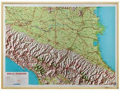 LOMBARDIA CARTA REGIONALE IN RILIEVO CON CORNICE 92X66 CM GLOBAL MAP