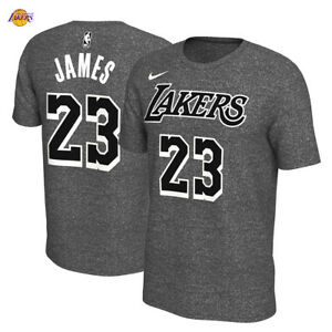 d6672d3eeae1 LeBron James Los Angeles Lakers Nike T-Shirt Marled Name Number NBA ...