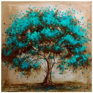 DIY 5D Diamond Painting Embroidery Craft Stitch Arts Kit Mural Blue Tree Gifts