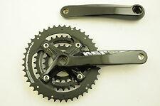 SR SUNTOUR cw13 xcr-t424 TRIPLE chainwheel 175mm Alloy CRANK 44/32/22 Nero Nuovo
