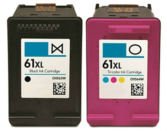 2pk For HP 61XL CH563WN CH564WN Ink For Officejet 2620 4630 4632 4635