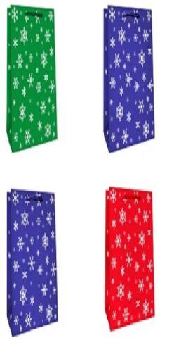 12//24//48 bouteilles sachets sacs de Noël Cadeau Pochettes Noël Paillettes 2210 b2