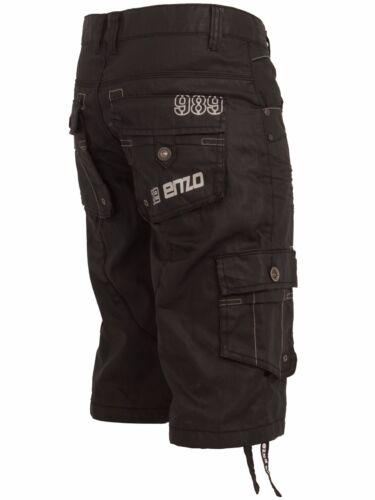 Enzo da uomo denim shorts Regular Fit Designer tasche Gamba Dritta Pantaloni mezza