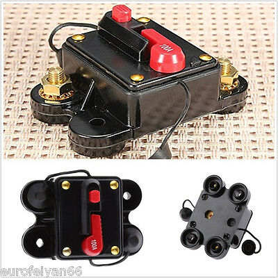 12-24V 80-300A Auto Reset Vehicle Audio Inline Circuit Breaker Fuse Holder
