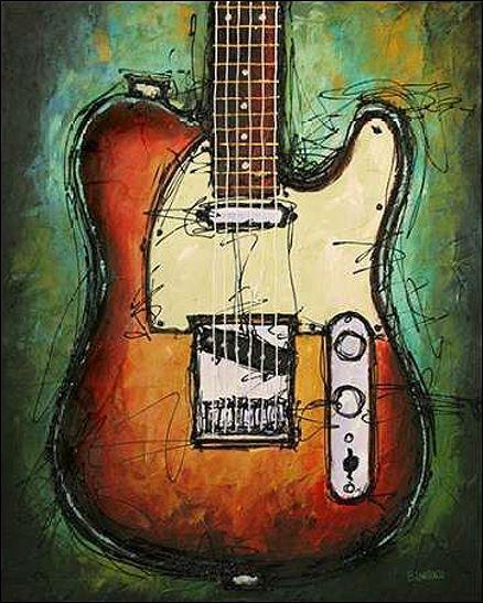 Bruce Langton  Country Twang Civière-image de L'écran Guitare Musique Jazz