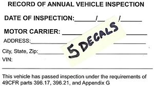 Details About Dot Truck Safety Stickers And Forms 5 Complete Sets Fast Free Shipping