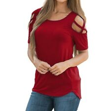 8d99863848636 item 5 Women Summer Short Sleeve T-Shirt Cold Shoulder Strappy Pullover  Tops Blouses -Women Summer Short Sleeve T-Shirt Cold Shoulder Strappy Pullover  Tops ...