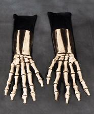 Skeleton Hands Undead Death Reaper Scary Adult Halloween Costume Gloves
