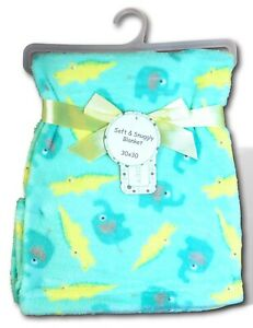 """Green Yellow  30/""""x 30/"""" Zak and Zoey Soft Baby Blanket on Hanger"""
