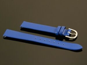 Lederarmband-Uhrenarmband-Lederband-Kalbsleder-Leder-NIVREL-blau-14-mm