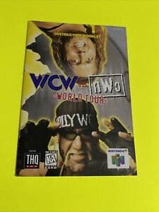 WCW VS NWO WORLD TOUR - Instruction Booklet Manual Original Book Nintendo N64 🔥