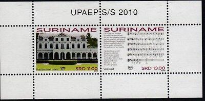 Briefmarken Ehrlich Upaep Suriname Hb113 2010 Palast Präsidenten Mnh Exquisite Traditionelle Stickkunst Sonstige