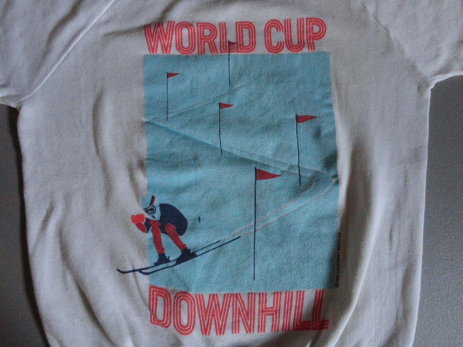 RARE Vintage USA 1986 World Cup Downhill Skiing 50-50 Sweatshirt Fits Adult S