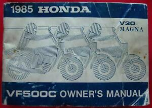1985-HONDA-MOTORCYCLE-V30-MAGNA-VF500C-OWNER-039-S-MANUAL