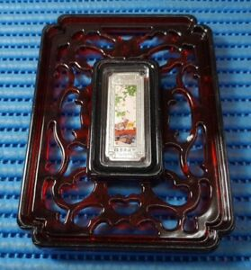 2011-China-Lunar-Year-of-the-Rabbit-10-gm-999-Fine-Silver-Ingot-with-frame