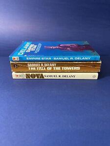 Lot Of 3 SciFi Fantasy Paperbacks Samuel R. Delany Nova Empire Star Fall Vintage