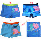 Boys Peppa Pig Striped Swimming Trunks Flat Shorts Size 2 3 4 5 6