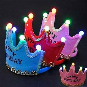 LED-Luminous-Happy-Birthday-Party-Hat-King-Cap-Princess-Crown-Baby-Shower-t
